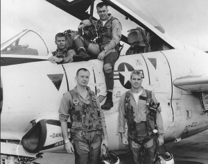 John McCain, war hero (front, right)